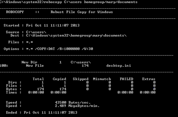 Mapping a network drive and using robocopy